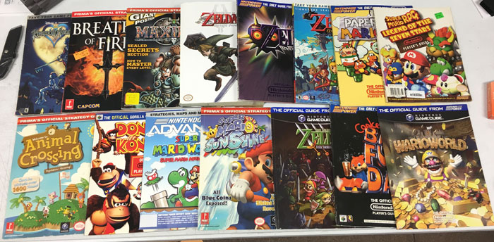 Strategy Guide Retro Video Gaming Lot