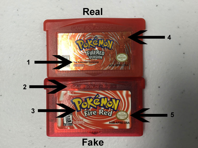 488a4ecec75 Learn How to Spot Fake Pokemon Game Boy Advance Games. - DKOldies ...