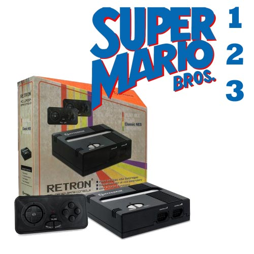 Retron 1 with Super Mario Bros 1, 2, & 3