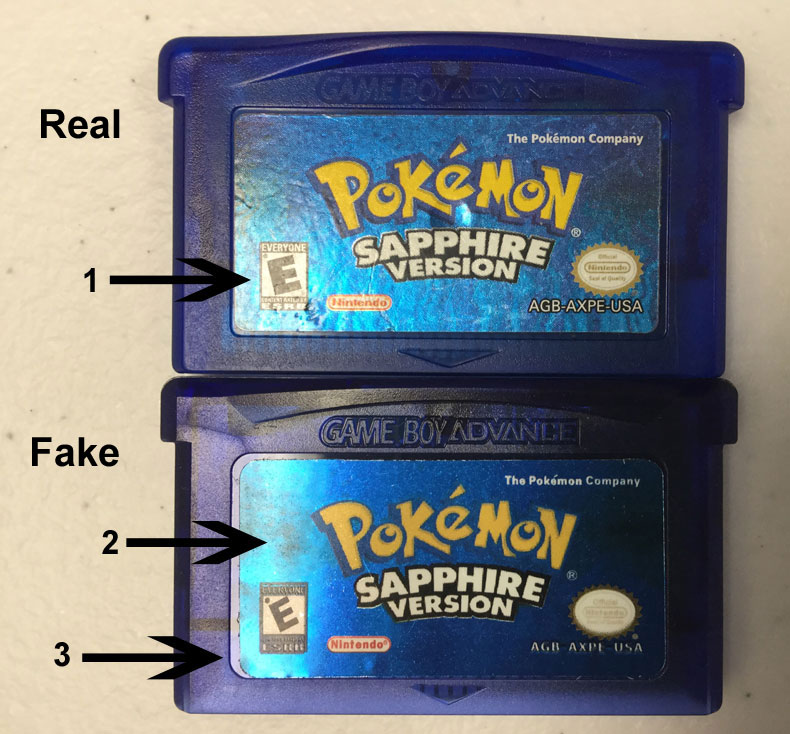 Learn How to Spot Fake Pokemon Game Boy Advance Games